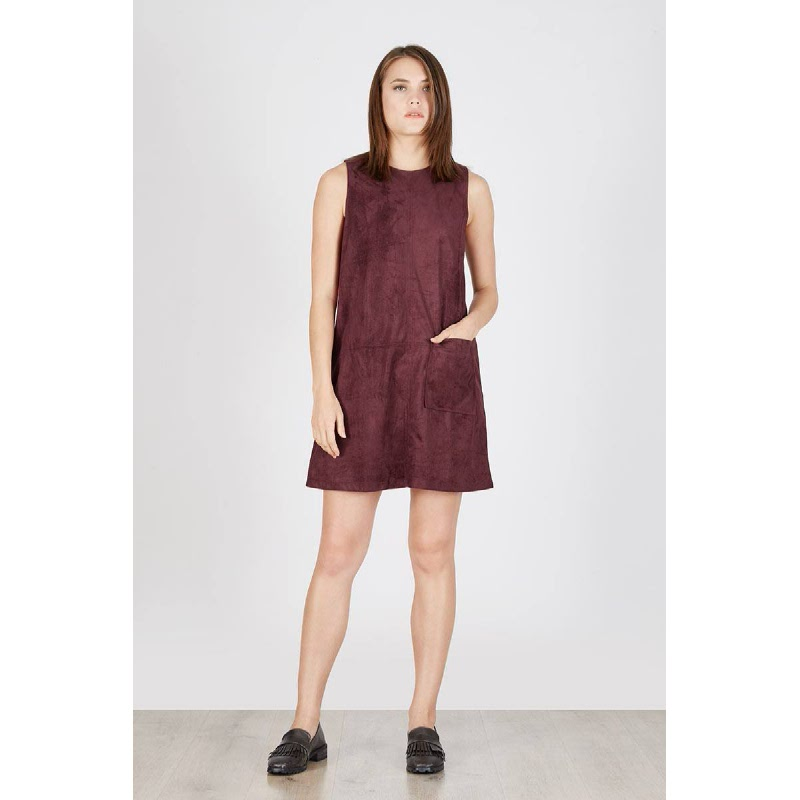 Pitera Pocket Dress Maroon