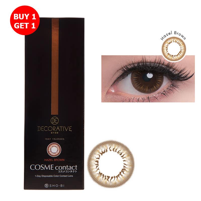 Shobi Hazel Brown (-4.25) 1 Day Disposable Cosme Contact Lens  2pcs