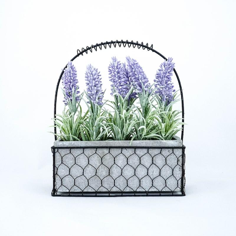 Asna Artificial Lavender Arrangements with Pot