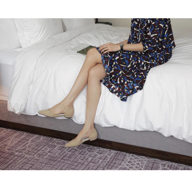 SAPPUN Oh, Chloe Suede Stiletto Heel (2cm) - Beige