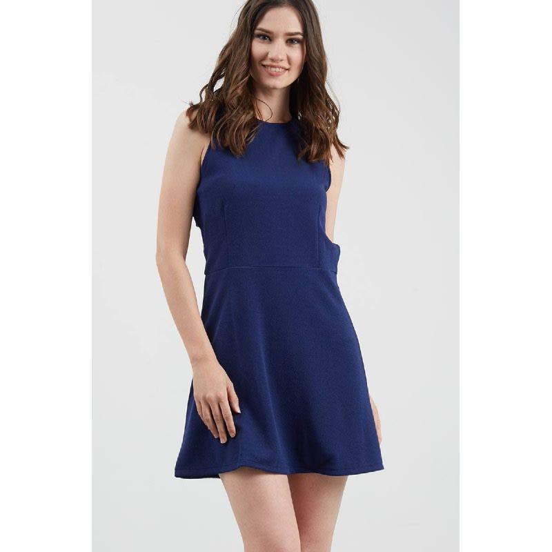 Gwen Eltmann Dress in Navy