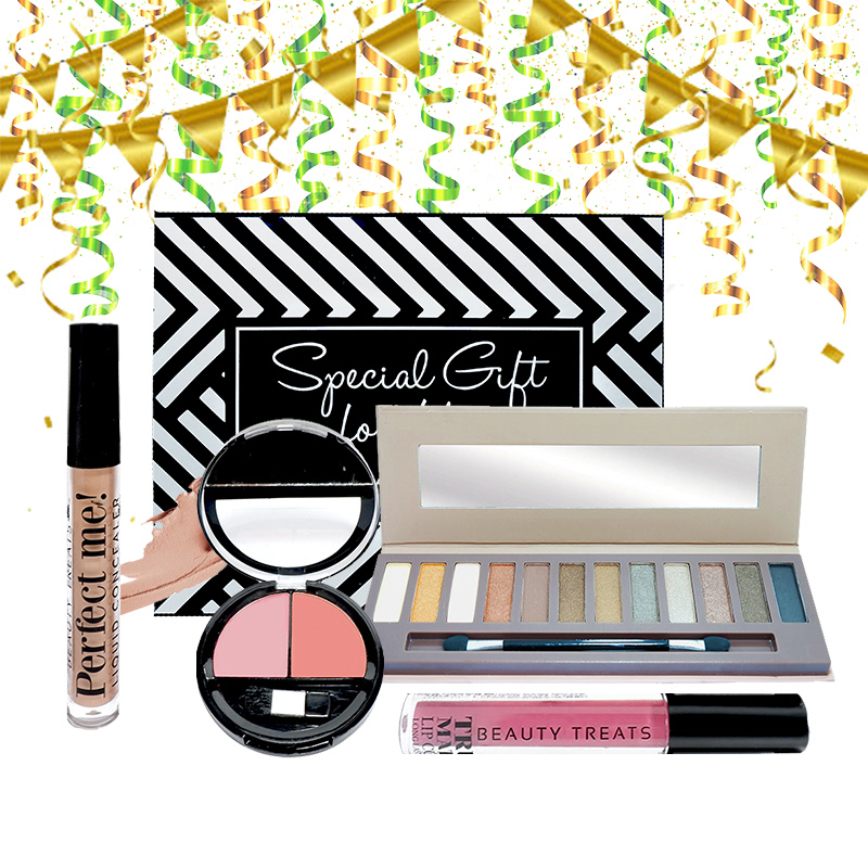 Beauty Hampers (Naked Eyeshadow Set 2 + Duo Blush No 2 + True Matte Lip Color No 10 + Perfect Me Liquid Concealer)