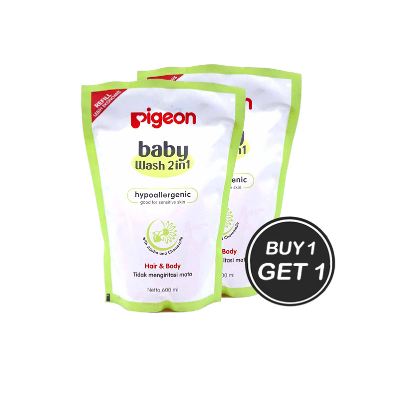 Pigeon Sabun Mandi Refill 600 Ml (Buy 1 Get 1)