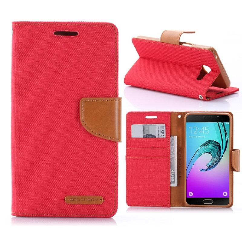 Goospery Canvas Diary for Samsung Galaxy A5 2016 - Merah