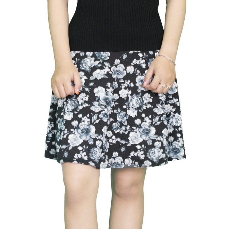 Gudang Fashion Rok Eksekutif Wedges - Hitam ROK 111