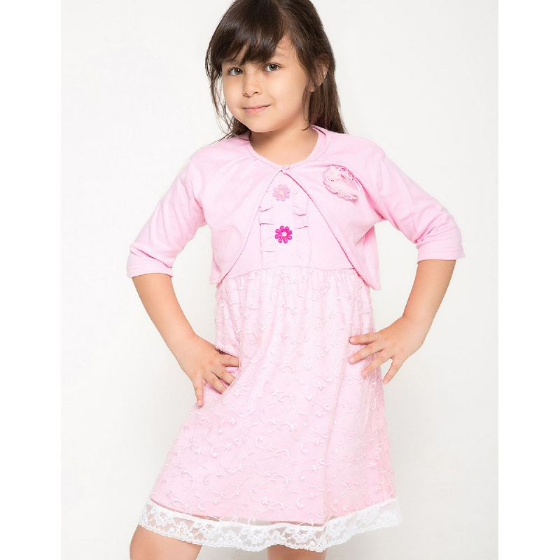 4 You Bolero Tile Dress Pink