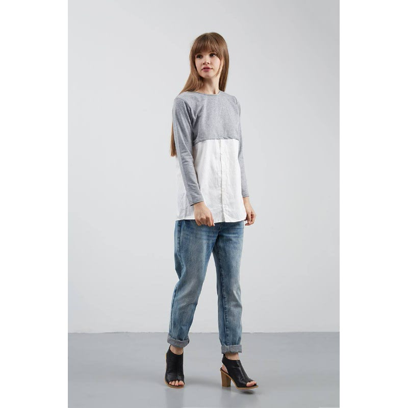 Cantika Top in Grey