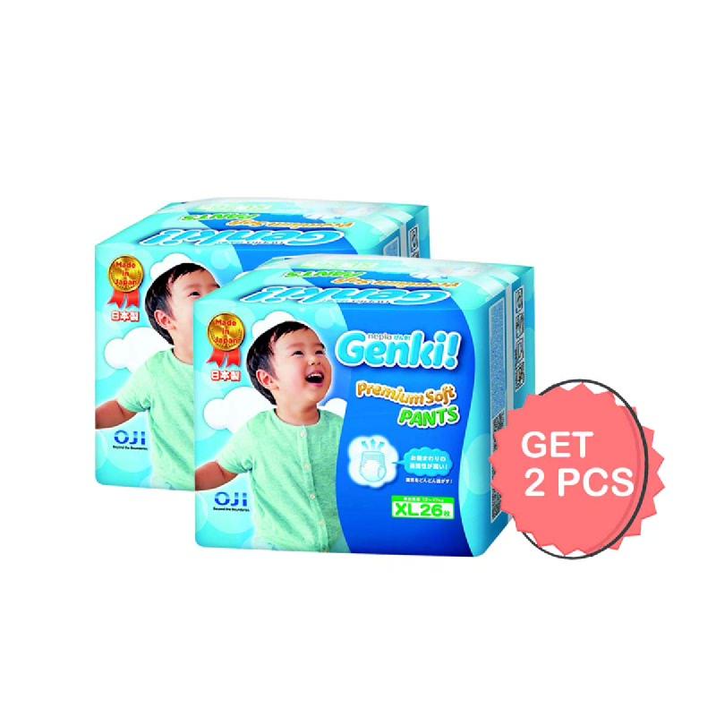 Nepia Popok Genki Celana Xl 26S (Get 2)