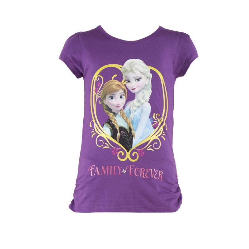 Frozen Familly Forever Girl T-shirt Purple