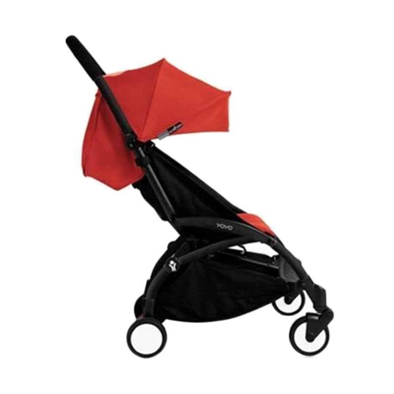 Babyzen Yoyo Stroller + Frame Black New Born Kereta Dorong Bayi [6+] Red
