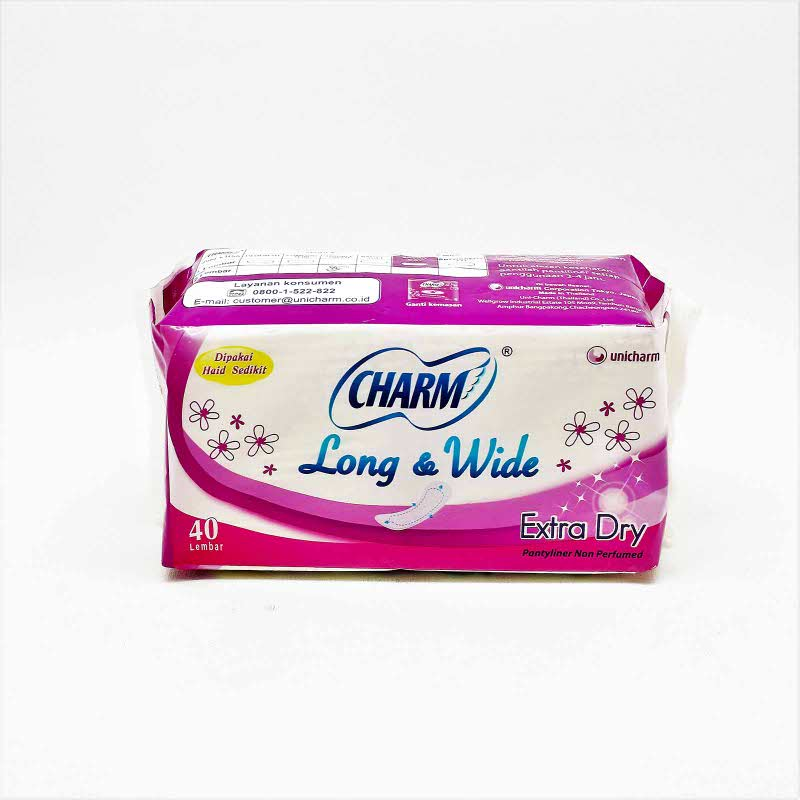 CHARM PL FIT LONG&WIDE EXTRA DRY NON PERFUMED 40S