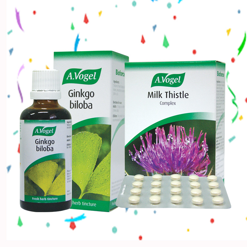A. Vogel Ginkgo Biloba 50 ml + A.Vogel Milk Thistle Complex 60 Tablet