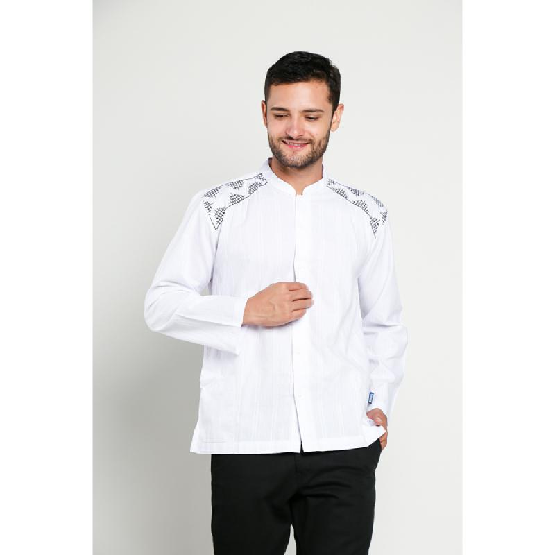 Aitana Baju Koko Pria Bordir YN-11713-LS Putih