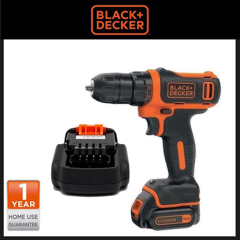 Black+Decker 10.8V Drill Driver Lithium 1 Battery BDCDD12 Bor Tangan