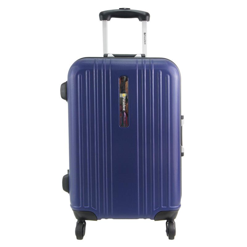 President 5277 Luggage Hardcase Cabin Size 20 Inch Midnight Blue