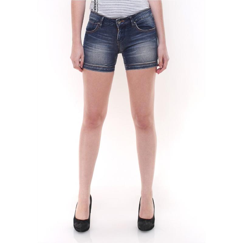 Mini Pants - Motif Striped Washed - Biru