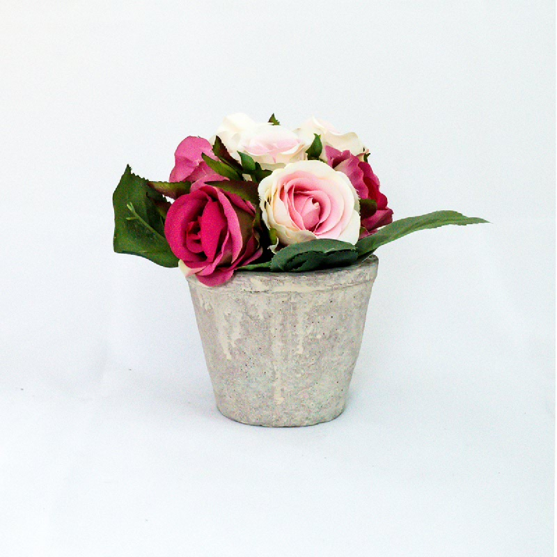 Asna Artificial Roses with Pot