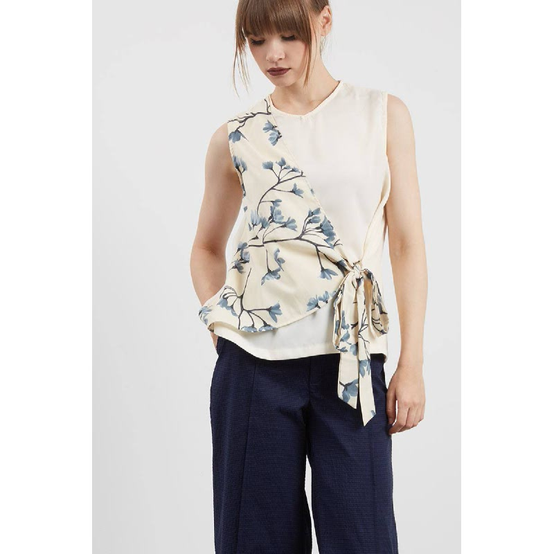 Siloso Side Knot Top Brown