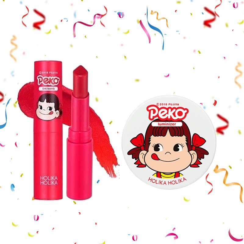 Holika Holika Peko Water Drop Tint Bomb 04 Cherry Coke Water + Peko Milky Jelly Luminizer 6g