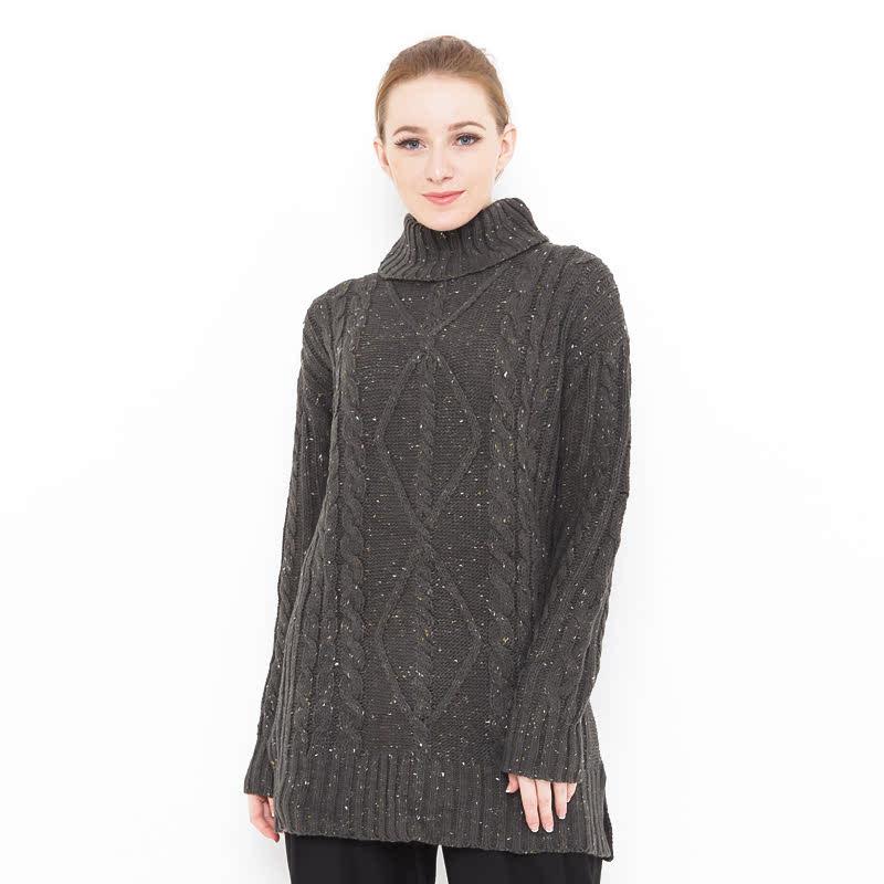 Voyant by Megumi Big Long Chunky Sweater Diamond Moss Green