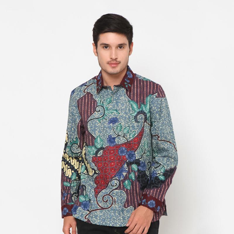Asana Batik Lengan Panjang Talama Blue