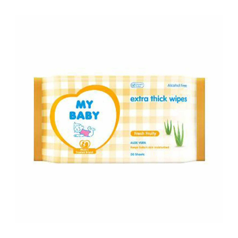 My Baby Extra Care Wipes Fresh Fruity 50 Sheets