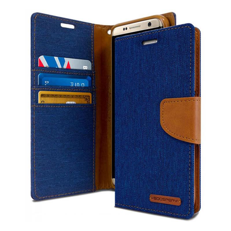 Goospery Canvas Diary Samsung Galaxy S8+ Biru