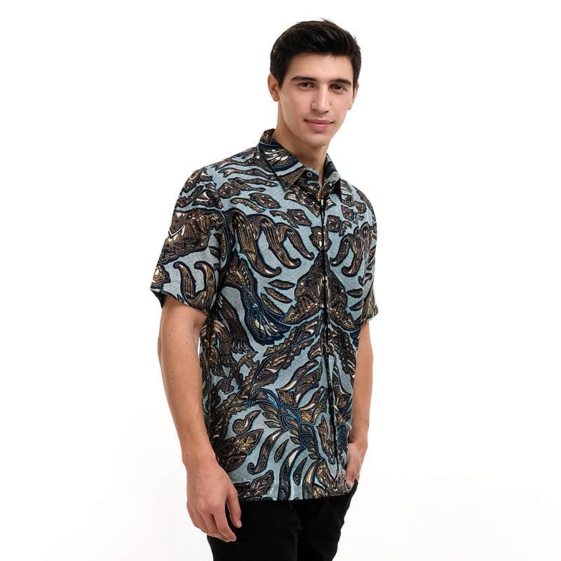 Batik Semar FrDb Reno Sasiring Shirt Blue