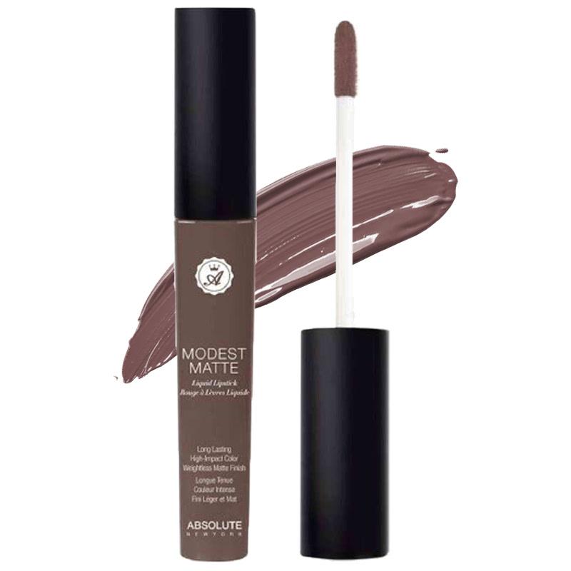 Absolute New York Modest Matte Liquid Lipstick Closed Curtain