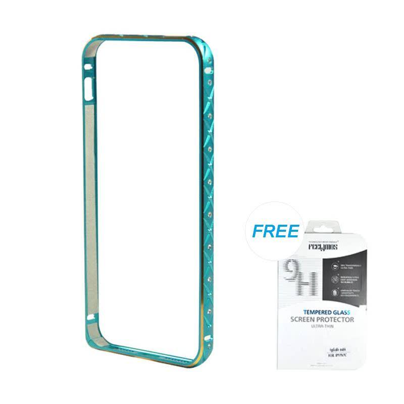 Ultrathin Diamond bumper protection for iPhone 5 dan 5s - Biru