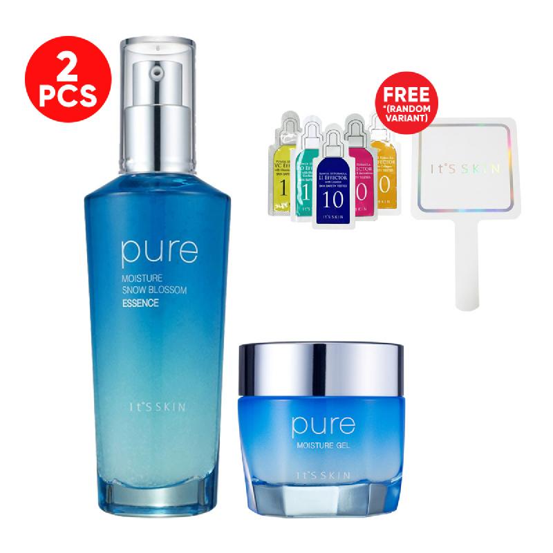 Its Skin Pure Moisture Gel + Snow Blossom Essence FREE Its Skin Mirror + Power 10 Formula Effector 1ml 5pcs (Random)