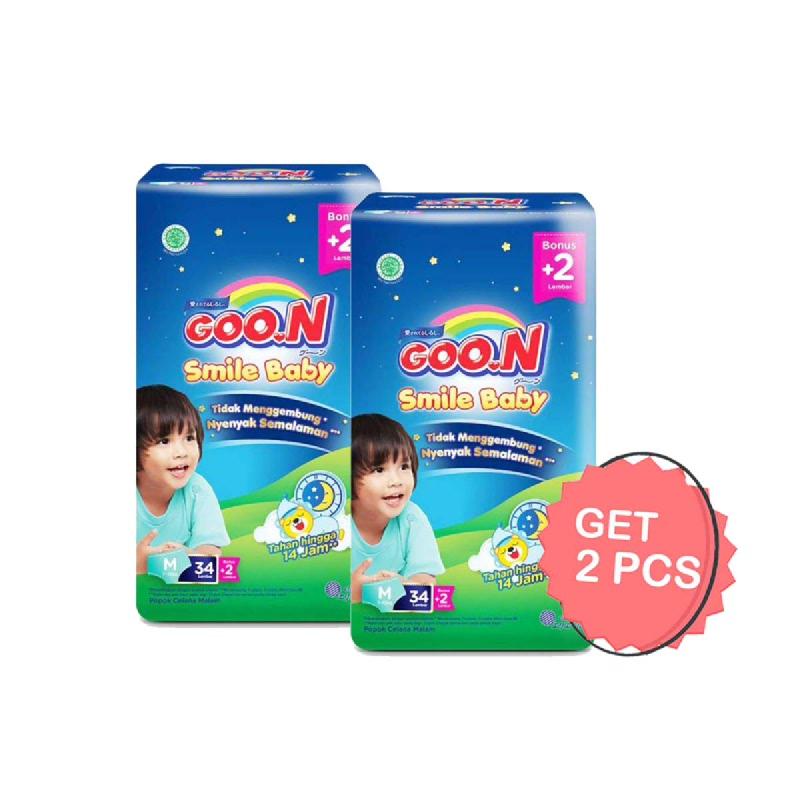 Goon Smile Popok Bayi Night Pants M 34+2S (Get 2)