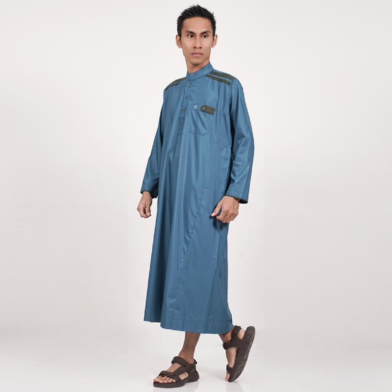 Al-Isra Jubah Cordova Pakaian Gamis Pria Toska