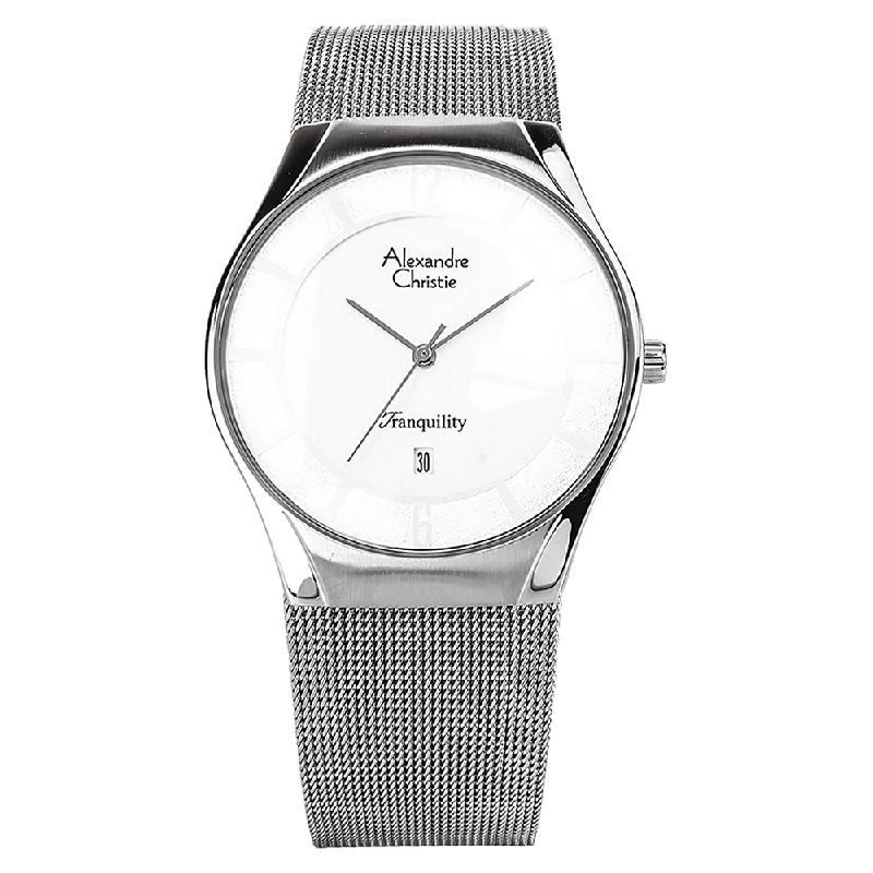 Alexandre Christie AC 8331 MD BSSSL Man White Dial Stainless Steel