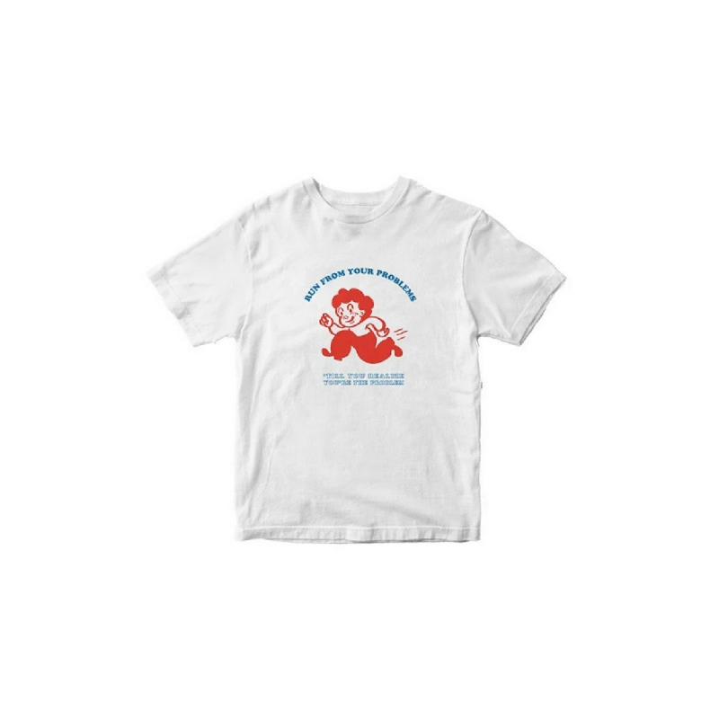 Skelly Tshirt Problem runner white