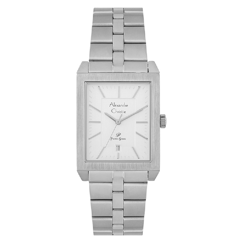 Alexandre Christie Primo Steel AC 1020 MD BSSSL Men Silver Dial Stainless Steel Strap