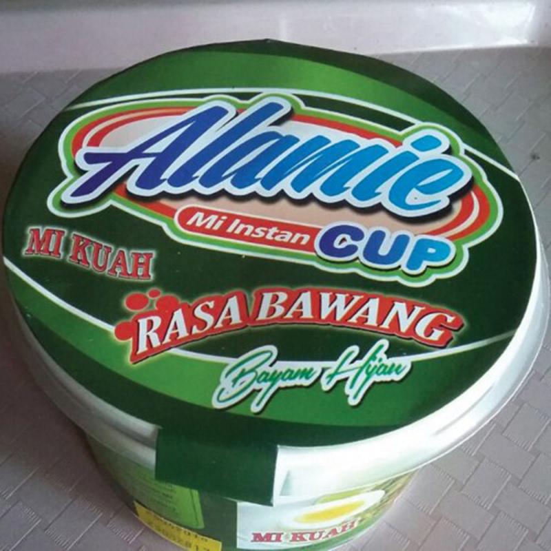 Alamie - Mie Instant Cup Kuah Bawang Bayam Hijau (5 Pack)
