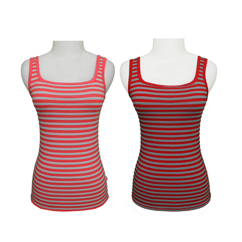 Gudang Fashion Tank Top Pendek Orange TNP 61 & Tank Top Lucu Red TNP 66