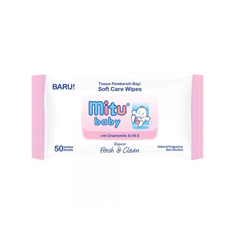 Mitu Baby Wipes White 50 Sheet