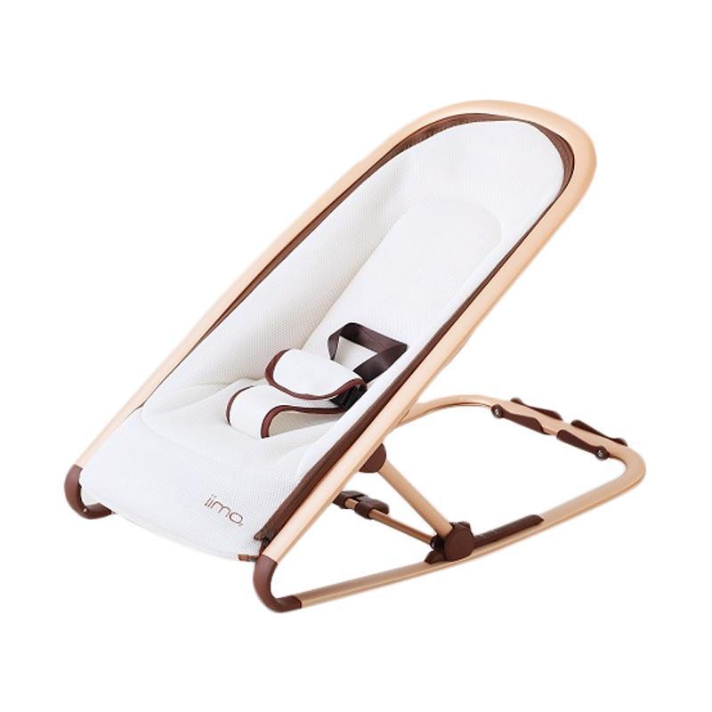 IIMO Rocking Chair Baby Bouncer - Gentle White White