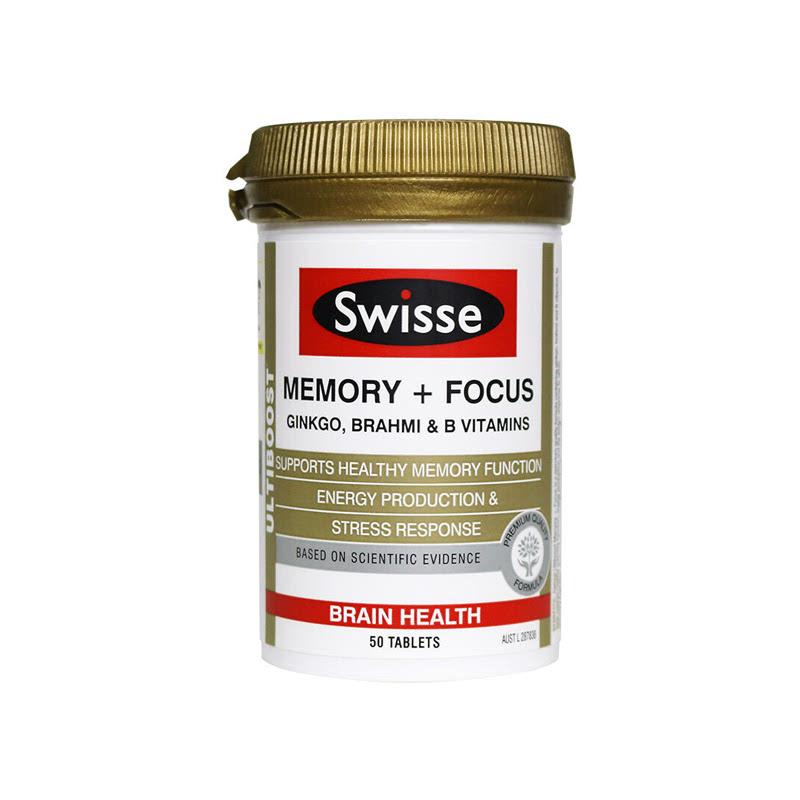 Swisse Ultiboost Memory + Focus 50 Tabs