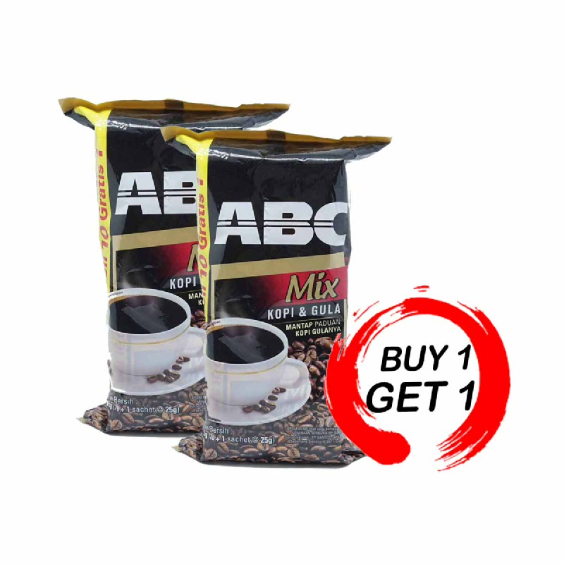 Abc Mix Kopi + Gula Bag 10 Sachet (Buy 1 Get 1)