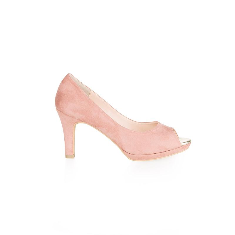 Armira Platform Heels Open Toe Shoes Light Pink