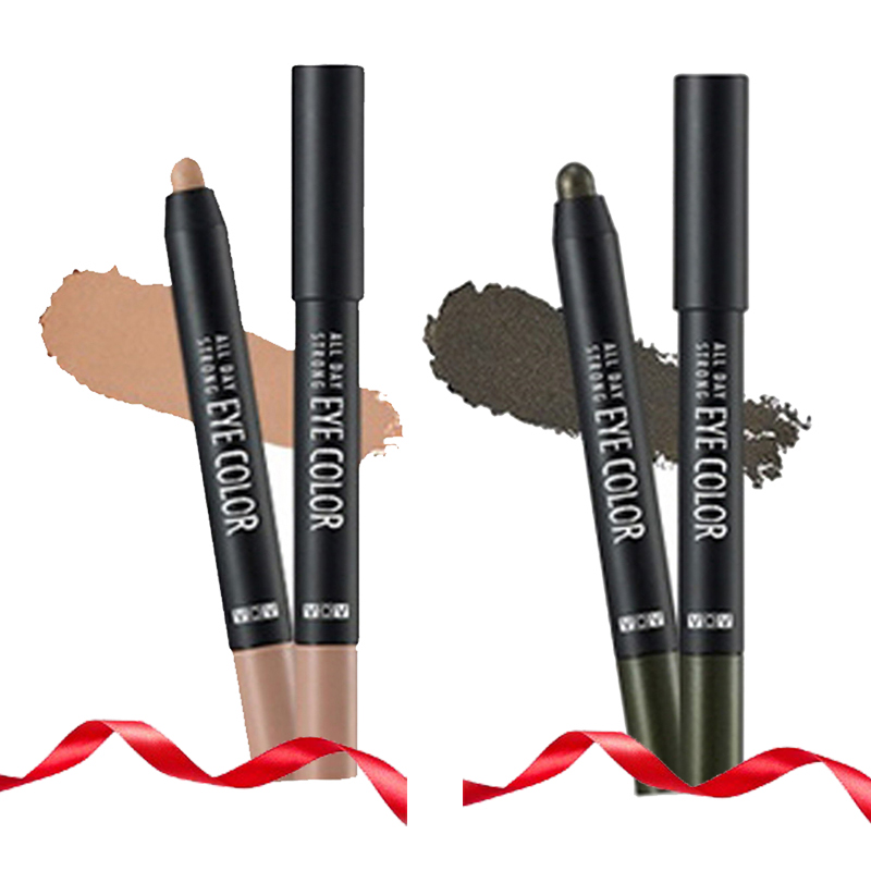 VOV All Day Strong Eye Color BR 802 Nude Fade + All Day Strong Eye Color GR 501 Khaki Shock