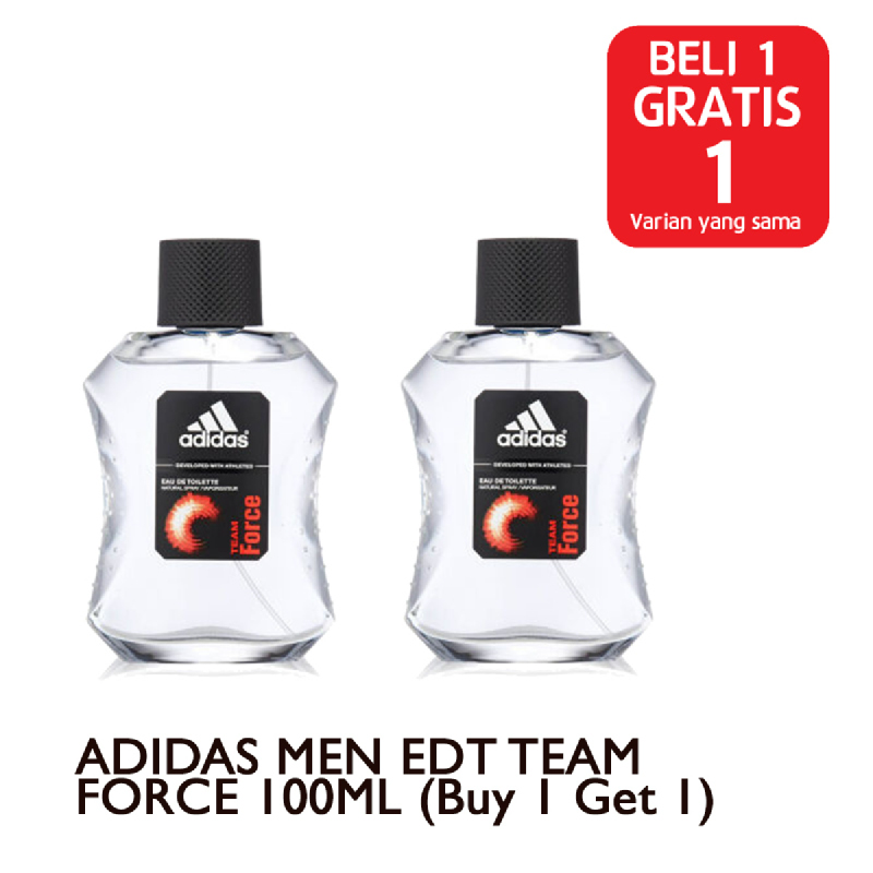 ADIDAS MEN EDT TEAM FORCE 100ML (Buy 1 Get 1)