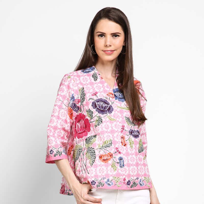 Astari Batik Top Cetek Encim Pink