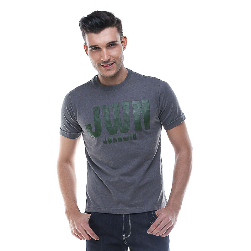 Slim Fit - Kaos Casual Active - JHW - Abu