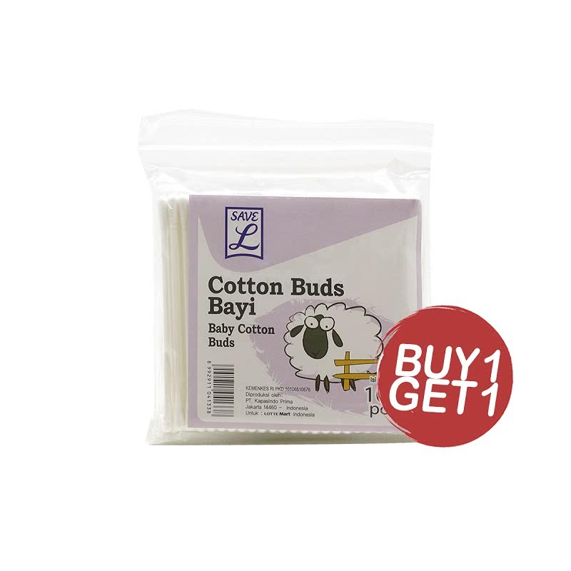 Save L Cotton Buds Baby 133 100S (Buy 1 Get 1)