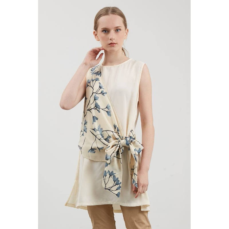 Sully Side Knot Top Beige