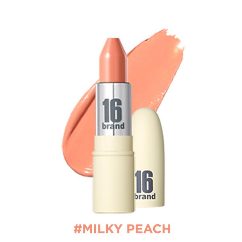 16brand RU Lipstick Glossy - Milky Peach